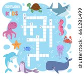 kids magazine book puzzle game... | Shutterstock .eps vector #661281499