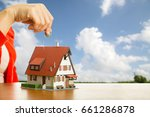 real estate agent house for... | Shutterstock . vector #661286878