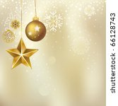 christmas ornament and starry... | Shutterstock .eps vector #66128743