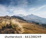 top of iztaccihuatl volcano... | Shutterstock . vector #661288249