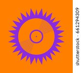 vinyl icon. violet spiny circle ... | Shutterstock .eps vector #661294309