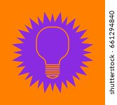 light lamp icon. violet spiny... | Shutterstock .eps vector #661294840