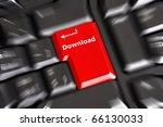 download key on keyboard... | Shutterstock . vector #66130033