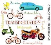 various types of transport car  ...   Shutterstock .eps vector #661309810