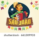 brazilian june party saint john ... | Shutterstock .eps vector #661309933