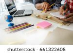 education concept. students... | Shutterstock . vector #661322608