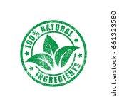 natural ingredients grunge... | Shutterstock .eps vector #661323580
