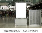blank mock up of vertical... | Shutterstock . vector #661324684