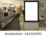 blank mock up of vertical... | Shutterstock . vector #661324690