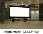 blank mock up of horizontal... | Shutterstock . vector #661324750