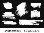 hand drawing brush stroke. set... | Shutterstock .eps vector #661330378