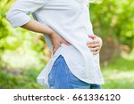 close up picture of a pregnant... | Shutterstock . vector #661336120
