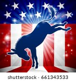 a donkey in silhouette kicking... | Shutterstock .eps vector #661343533