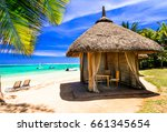 relaxing tropical holidays.... | Shutterstock . vector #661345654