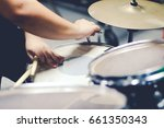 a good drummers always tuning... | Shutterstock . vector #661350343