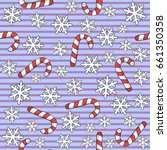 christmas pattern with... | Shutterstock . vector #661350358