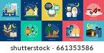 ramadan conceptual design | Shutterstock .eps vector #661353586