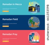 ramadan conceptual banner design   Shutterstock .eps vector #661353598