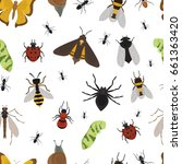 fly insects wildlife entomology ... | Shutterstock .eps vector #661363420