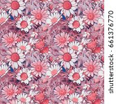 seamless pattern of field... | Shutterstock . vector #661376770