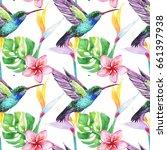 tropic summertime motif.... | Shutterstock . vector #661397938