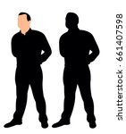 silhouette of a man | Shutterstock .eps vector #661407598