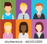 people flat icons design | Shutterstock .eps vector #661411000