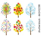 the collection of trees for... | Shutterstock .eps vector #66141238