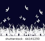 birds and butterflies over the... | Shutterstock .eps vector #66141250