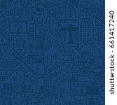 line house seamless pattern.... | Shutterstock .eps vector #661417240