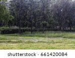 heavy rain | Shutterstock . vector #661420084