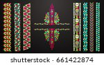 neckline is embroidered with a... | Shutterstock .eps vector #661422874