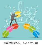idea bridge | Shutterstock .eps vector #661429810