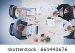 business people sitting and... | Shutterstock . vector #661443676