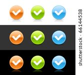 glossy colored web 2.0 buttons... | Shutterstock .eps vector #66144538