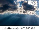 heavy leaden sky with breaking...   Shutterstock . vector #661446520