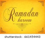 elegant ramadan kareem... | Shutterstock .eps vector #661454443