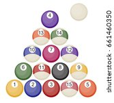 billiards balls collection pool ... | Shutterstock .eps vector #661460350