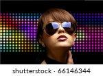 portrait of a beautiful dancing ... | Shutterstock . vector #66146344