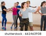 group of happy american  teen... | Shutterstock . vector #661463938