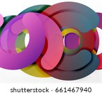 circle geometric abstract... | Shutterstock .eps vector #661467940