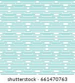 vector turquoise line pattern.... | Shutterstock .eps vector #661470763