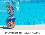 Funny Pineapple In Sunglasses...