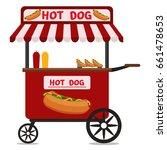 street food vending cart with... | Shutterstock .eps vector #661478653