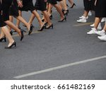 women lags wearing  black and... | Shutterstock . vector #661482169