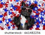 French Bulldog Waving A Flag O...