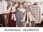 couple and teenager with... | Shutterstock . vector #661483510