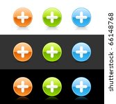 glossy colored web 2.0 buttons... | Shutterstock .eps vector #66148768