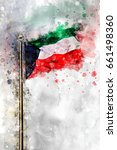 Watercolor Flag Of The State O...