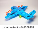 plastic toy plane isolated on... | Shutterstock . vector #661508134